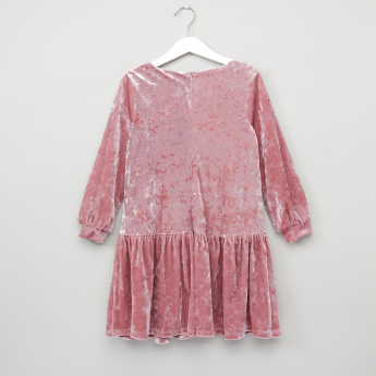 Juniors Velour Knit Dress