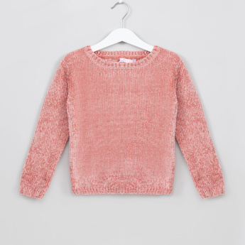 Juniors Textured Long Sleeves Pullover