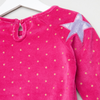 Juniors Applique Detail Pullover