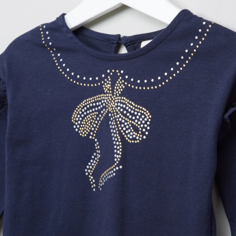 Eligo Embellished Ruffle Detail Top