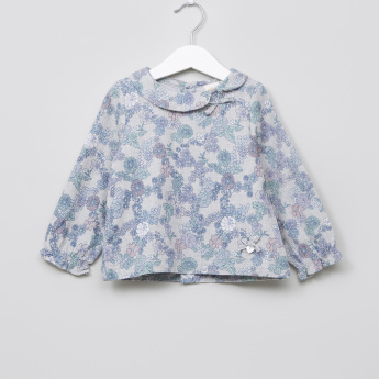 Eligo Printed Long Sleeves Top