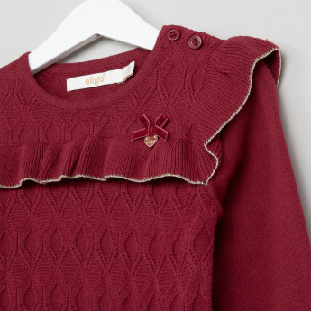Eligo Frill Detail Long Sleeves Pullover
