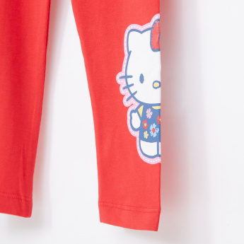 Hello Kitty Printed Full Length Leggings with Elasticised Waistband