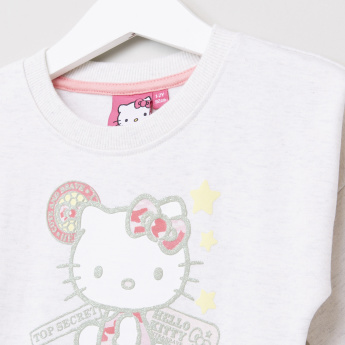 Hello Kitty Embroidered Long Sleeves Sweat Top
