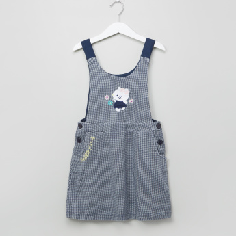 Hello Kitty Printed Pinafore and Long Sleeves T-Shirt