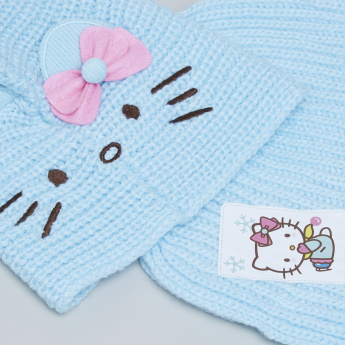 Hello Kitty Winter Cap with Attached Shawl