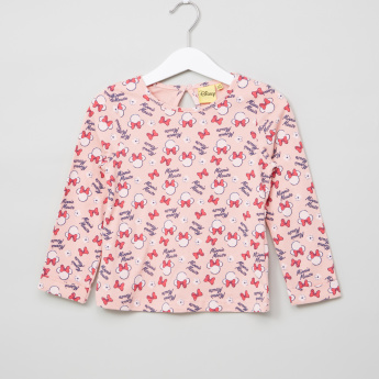 Minnie Mouse Printed Long Sleeves Top