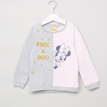 Minnie Mouse Printed Long Sleeves Sweat Top