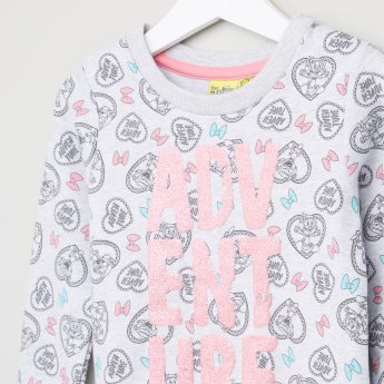 Duck Tales Printed Long Sleeves Pullover