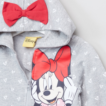Minnie Mouse Printed Long Sleeves Jacket with Jog Pants
