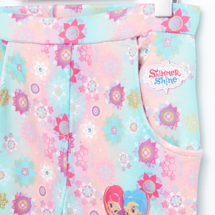 Shimmer and Shine Printed Jeggings with Elasticised Waistband
