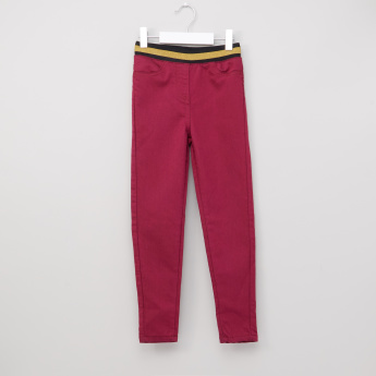 Juniors Full Length Jeggings with Elasticised Waistband