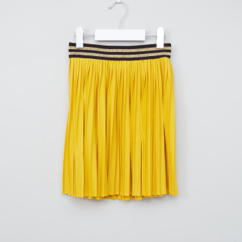 Juniors Pleated Skirt with Elasticised Waistband
