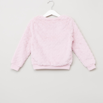 Plush Long Sleeves Sweatshirt