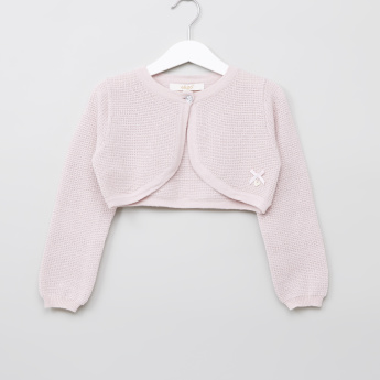Eligo Textured Long Sleeves Bolero