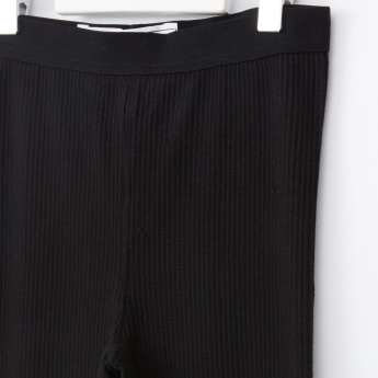 Posh Ribbed Leggings with Elasticised Waistband