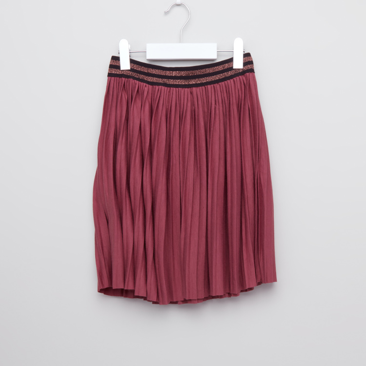 Posh Pleated Skirt with Elasticised Waistband