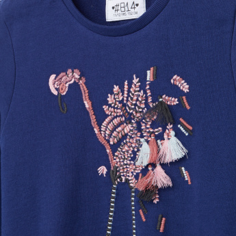 Posh Bird Embroidered Sweat Top