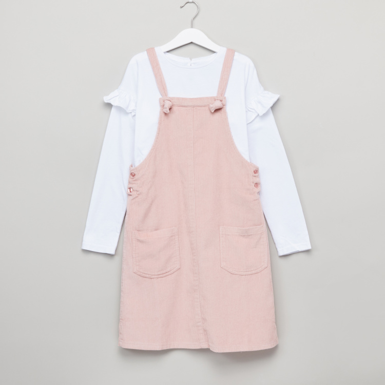 Posh Cord Pinny & T-Shirt Set