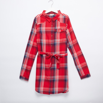 Lee Cooper Chequered Long Sleeves Tunic