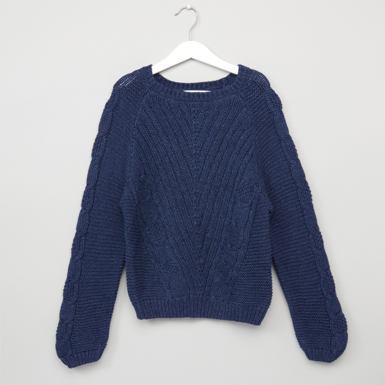 Lee Cooper Textured Long Sleeves Sweater