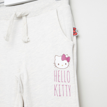Hello Kitty Printed Jog Pants with Drawstring