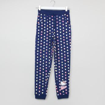 Hello Kitty Printed Sweatshirt with Full Length Jog Pants