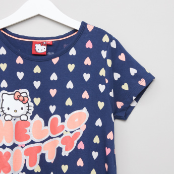Hello Kitty Printed Dress with Full Length Leggings