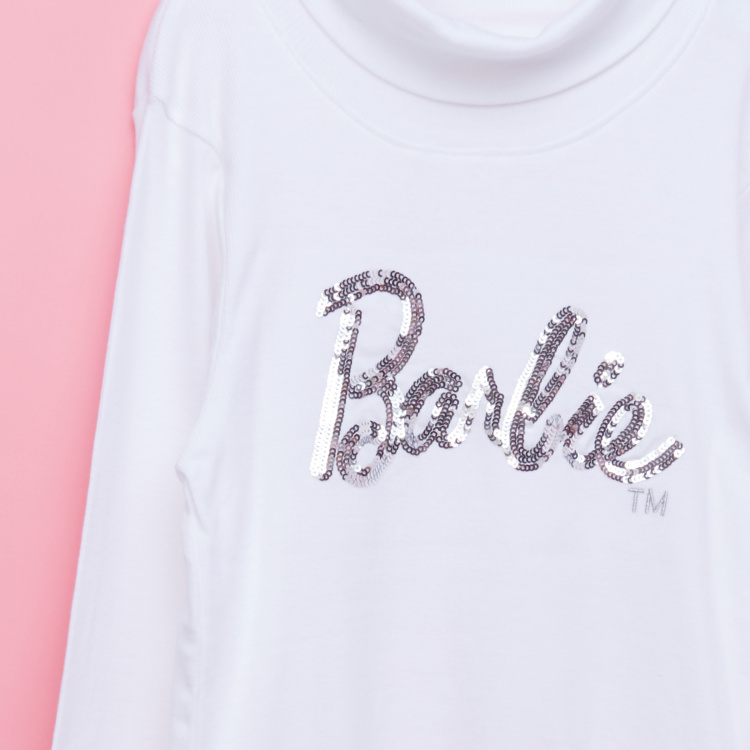 Barbie Sequin Turtleneck T-Shirt