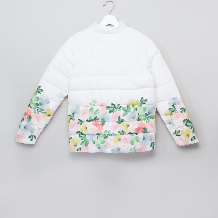 Barbie Floral Printed Padded Jacket