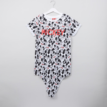Mickey Mouse Printed Tuck-In Hem T-shirt