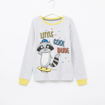 Juniors Little Adventure Printed T-Shirt with Jog Pants