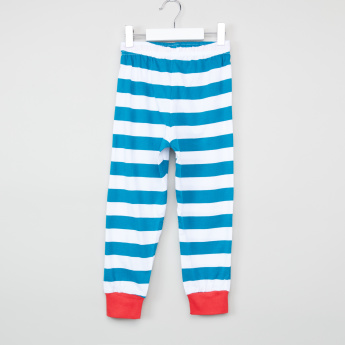 Juniors Striped T-Shirt with Jog Pants
