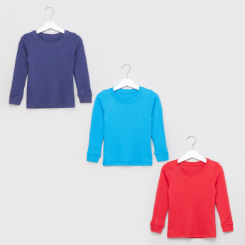 Juniors Textured Thermal T-Shirt - Set of 3