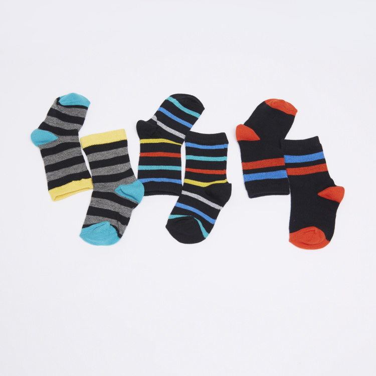 Juniors Striped Crew Length Socks - Set of 3