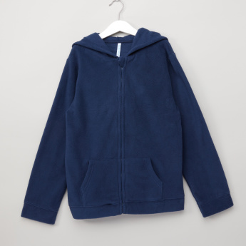 Juniors Fleece Jacket with Hood