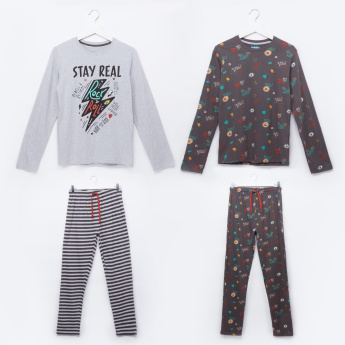 Juniors Printed T-Shirt and Pant - Set of 2
