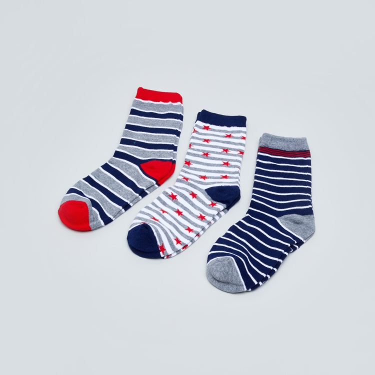Juniors Gift Socks With Stripes - 3 Pack
