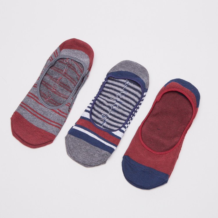 Juniors Liner Socks With Stripes - 3 Pack