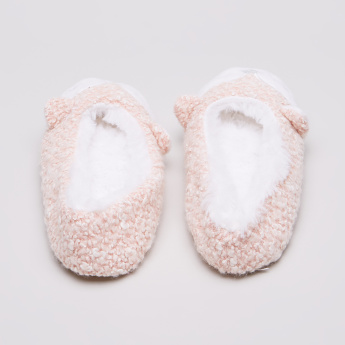 Juniors Plush Bedroom Booties with Fox Face