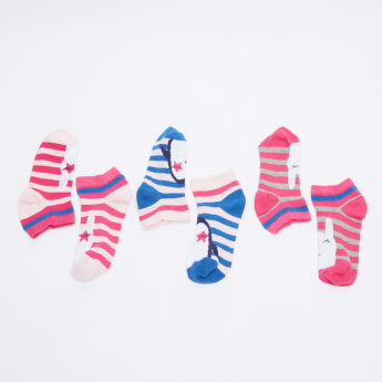 Juniors Striped Ankle Length Socks - Set of 3