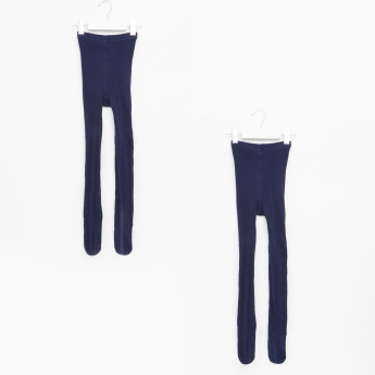 Juniors Textured Closed Feet Tights