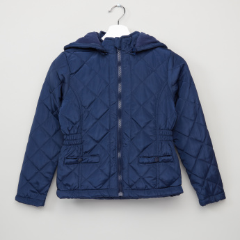 Juniors Padded Jacket with Front Pockets and Hood