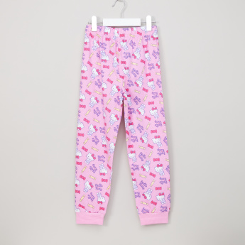 Hello Kitty Printed Jog Pants with Elasticised Waistband