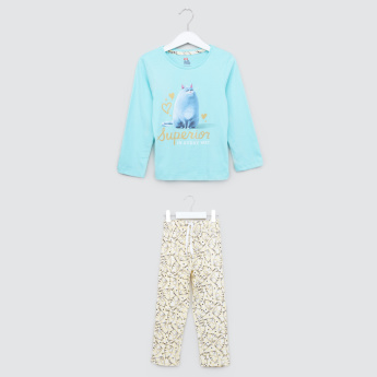 The Secret Life of Pets Printed T-Shirt and Pyjama Set