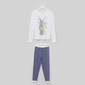 Juniors Bunny Pyjama Set