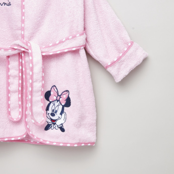 Minnie Mouse Embroidered Hooded Bathrobe