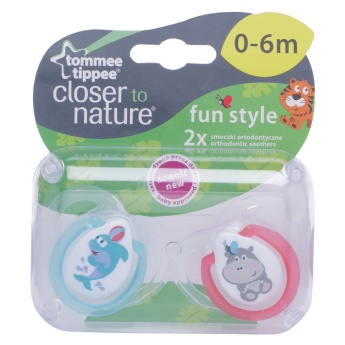 Tommee Tippee Fun Style Soother - Pack of 2