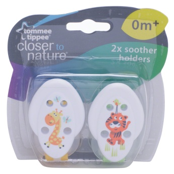 Tommee Tippee Soother Holder - Pack of 2