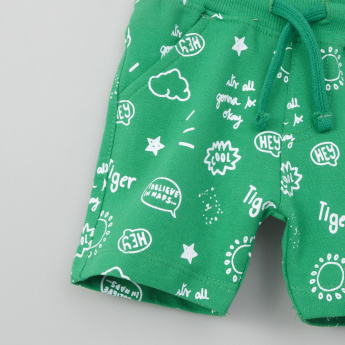 Juniors Printed Shorts with Drawstring - Set of 2